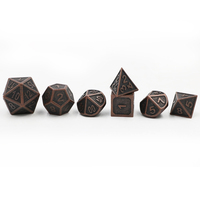 Dungeons Dragons 7pcs Set Creative Multi Faceted D D Metal Dice DND Different Color Red Copper
