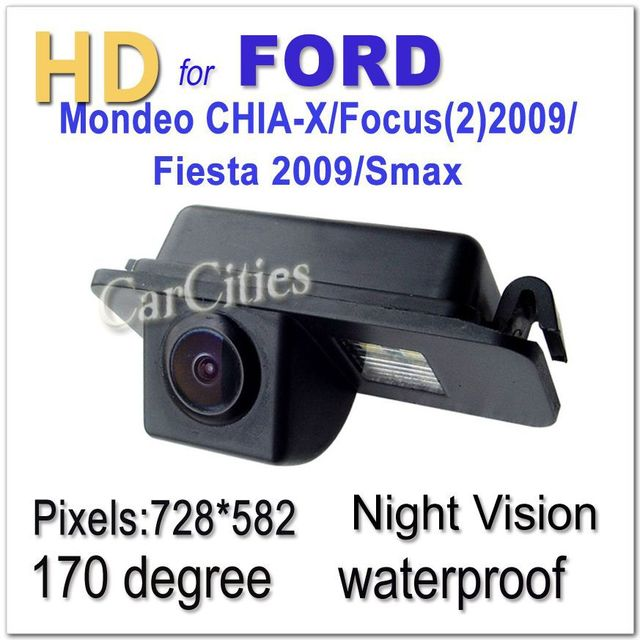 CCD car camera170 degree for Ford Mondeo/Focus(2)2009 Fiesta 2009/Smax Waterproof Shockproof Night version Size:58*25*27.8mm