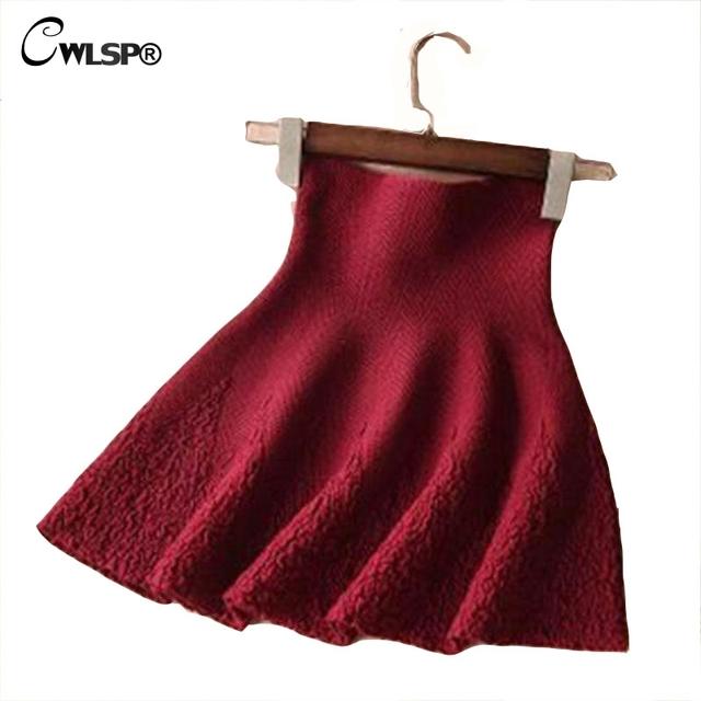 Invierno primavera 2016 de Las Mujeres Hizo Punto La Falda Más El Tamaño Elástico de Cintura Alta Impresión de la Flor Caliente Faldas del A-line de Las Colmenas Saias jupe
