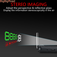 BigBigRoad For Land Rover Range Rover Freelander Discovery Car Windscreen Projector On Board Computer HUD Head Up Display OBD 2