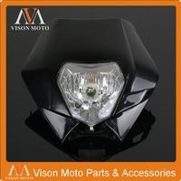 Black Universal Headlight Headlamp Lights Fairing for SX SXF SXS SMR150 530CC StreetFighter For Motorcycle Dirt Bike Enduro