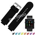 Para garmin vivoactive caucho de silicona watch band correa 24x16mm calidad + herramientas no adaptador