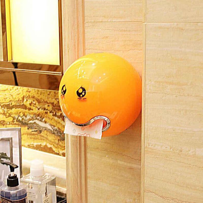 1 قطعة لطيف الرموز التعبيرية الكرة على شكل حامل مناديل ورقية الإبداعية المرحاض حامل الورق الملفوف للحمام جدار المطبخ تخزين منظم