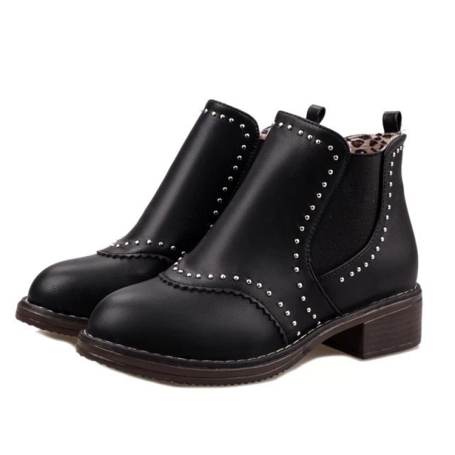 Women Autumn Winter Low Heel Round Toe Rhinestone 2015 New Arrival Fashion Warm Ankle Martin Boots Size 35-39 SXQ0826 women spring autumn thick mid heel genuine leather round toe 2015 new arrival fashion martin ankle boots size 34 40 sxq0902
