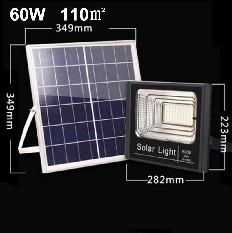2PCS Solar LED Light Spotlight 10W/25W/40W/60W/100W/120W Light control Floodlight Tuinverlichting Street Lamp Waterproof IP67
