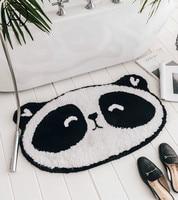 Cute Panda Children's Bathroom Mat Hallway Door Mats Printing Bathroom Kitchen Rug House Door Mats Living Room Anti Slip Rug