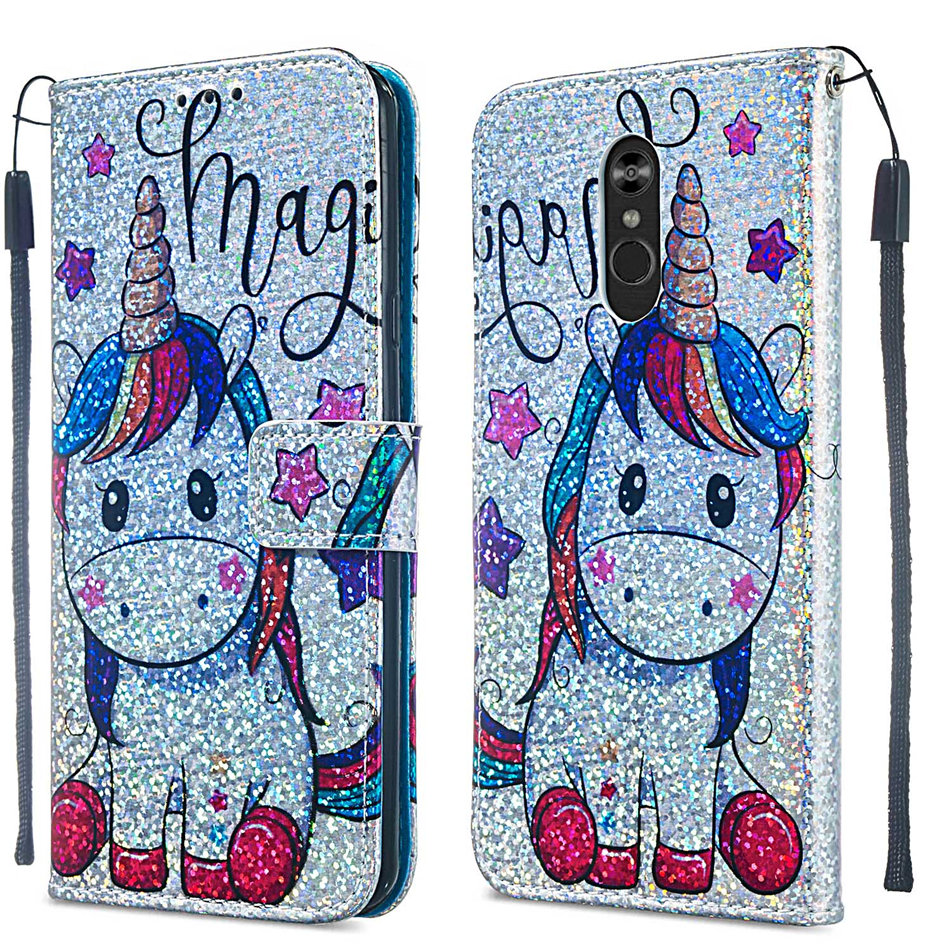 Flash Style Case For LG Aristo2 Plus LV3 2018 Stylo4 Stylus4 Q Stylus 4 G3 Bling Bling Luxury Wallet Card Slot Phone Cover DP03Z in Wallet Cases from Cellphones Telecommunications