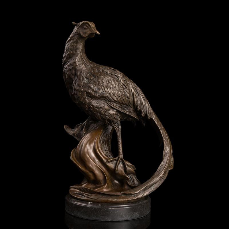 Искусство ремесла медь Лучшие продажи 100% Бронзовая Фигурка павлина статуи для парковый, садовый Декор peafowl дикая природа уличные скульптур