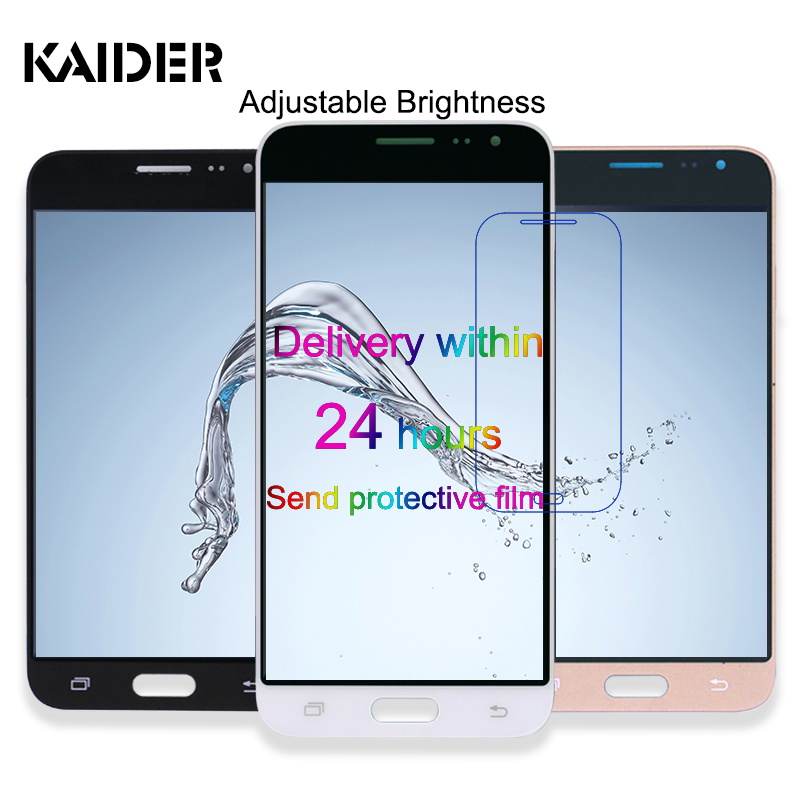 5.0 inch Adjust brightness J320 LCD Display For Samsung Galaxy J3 2016 J320FN J320H J320M J320F Touch Screen Phone Digitizer