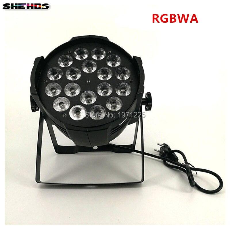 4pcs Aluminum alloy LED Par 18x15W RGBWA 5in1 LED Par Can Par led spotlight DJprojector wash lighting stage lighting