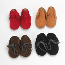 2016 Hot Selling Genuine Suede Leather Infant Toddler Boys Girls Kids Prewalkers Baby Infant Moccasins Soft Moccs Shoes Boots