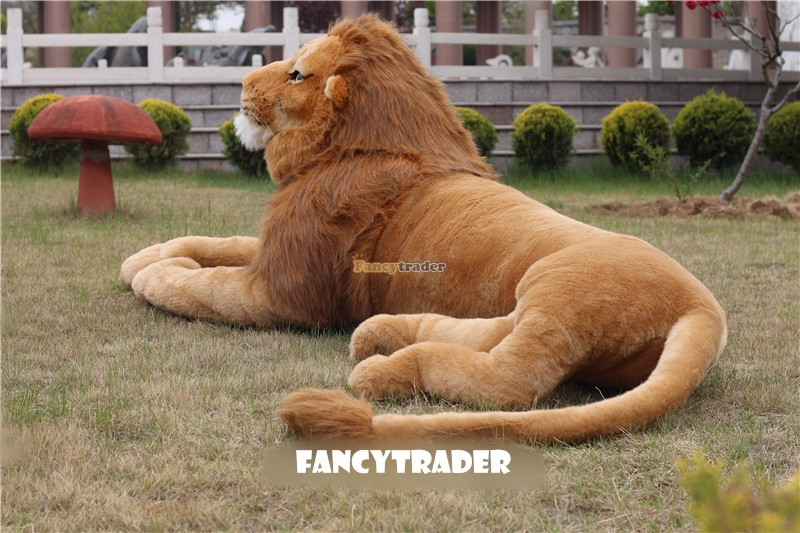 Fancytrader Vivid Real Lion Life Like Lion Toy 87 220cm Rare In