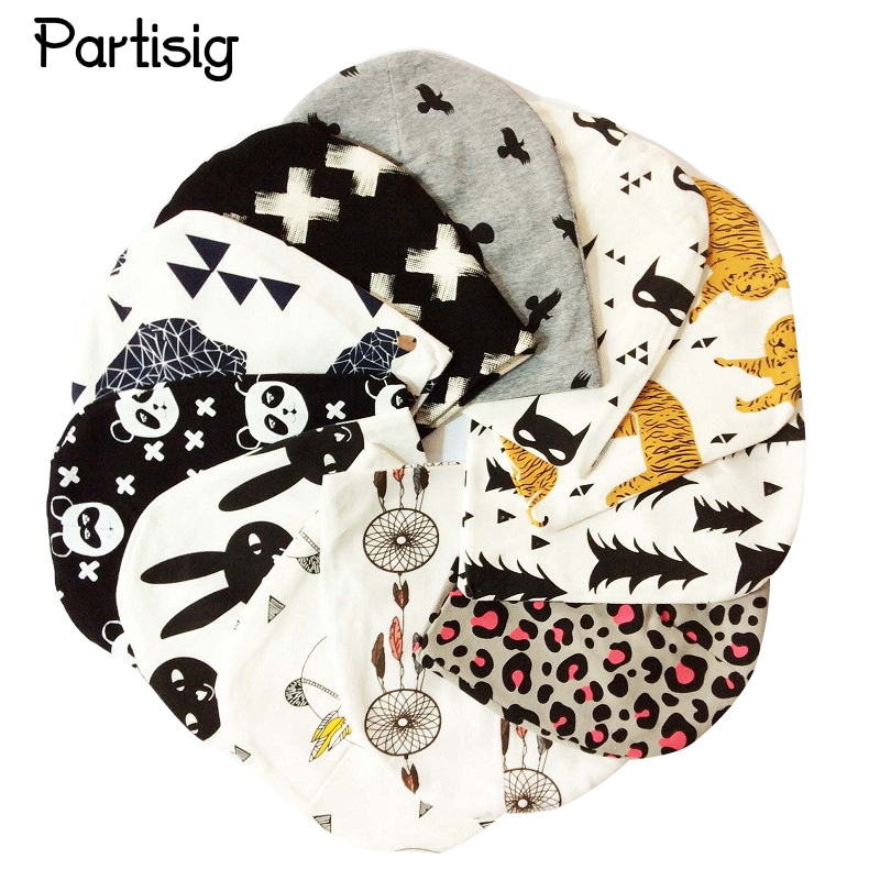Brand Baby Hat Strik Cotton Cartoon Bear Batman Print Baby Caps For Boys Piger Forår Efterår Vinter Børnehatte Barn Beanie