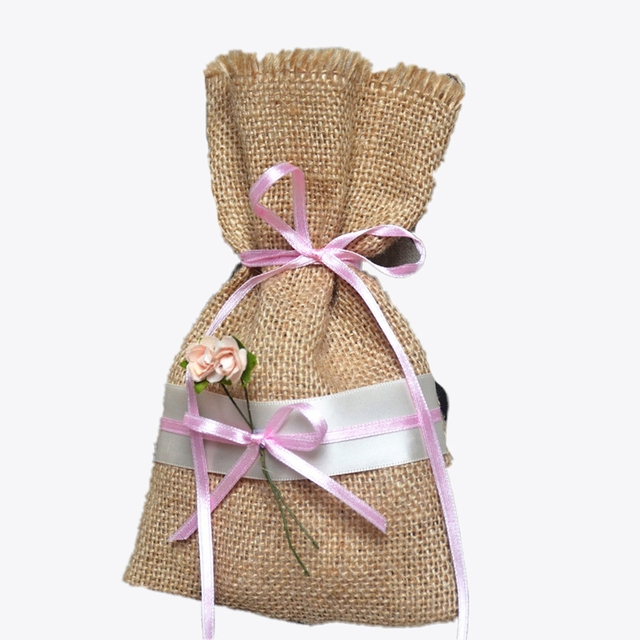 Wedding Candy Bags Favors Pouches Home Party Decoration Crafts Pack Festive Supplies Mini Linen
