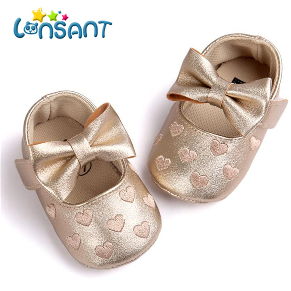 LONSANT Sneaker Shoes Soft-Sole Bowknot Anti-Slip Leater Baby-Girl New Summer