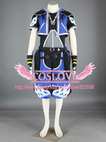 High Quality Custom Made Blue 2th Sora Cosplay Costume from Kingdom Hearts Anime Christmas Holloween Plus Size (S 6XL)
