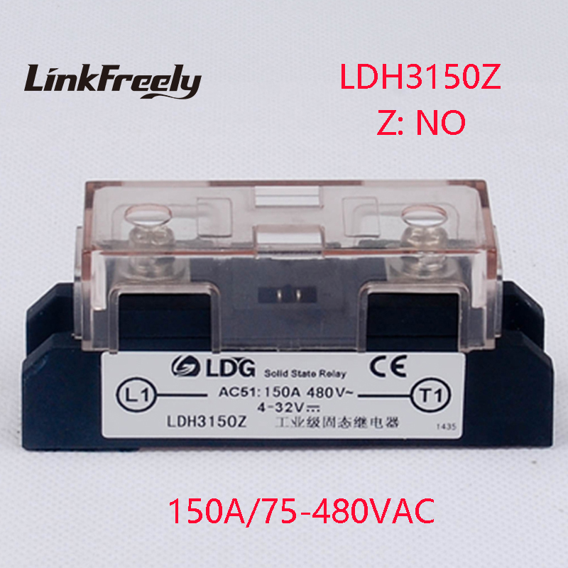 LDH3150Z 2pcs Industrial High Power 1 Phase Solid State Relay 150A Output 75-480VAC Input 4-32V DC AC SSR Voltage Relay Module 400a input 70 280vac output 24 480vac industrial ssr single phase solid state relay ssr 400a