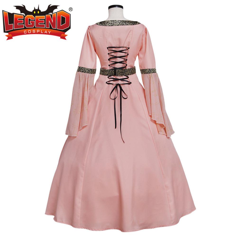 Pink Medieval Renaissance TUDOR Wedding Ball Gown Dress Costume ...