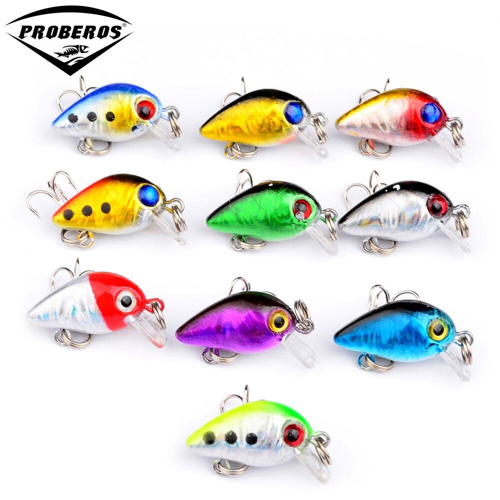 10pcs lot top plastic fishing lures 3cm 1 5g mini fishing for 5 3 fishing