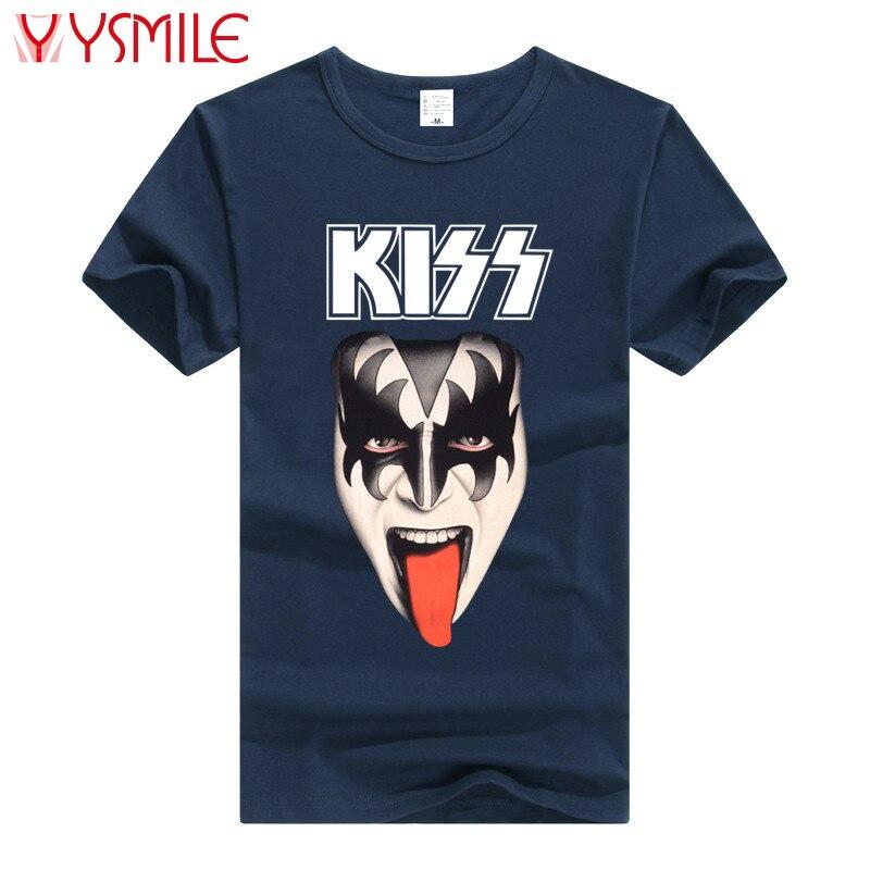 Shirt Beso Indie Kiss Nuevos Punk Hombres Merch T Logo 2017 Rock q1XggEwp