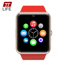 [Original] TTLIFE GT08 Notificador de Apoyo TF Tarjeta Sim Reloj Inteligente Reloj de Sincronización Bluetooth smartwatch Para Apple Teléfono Android
