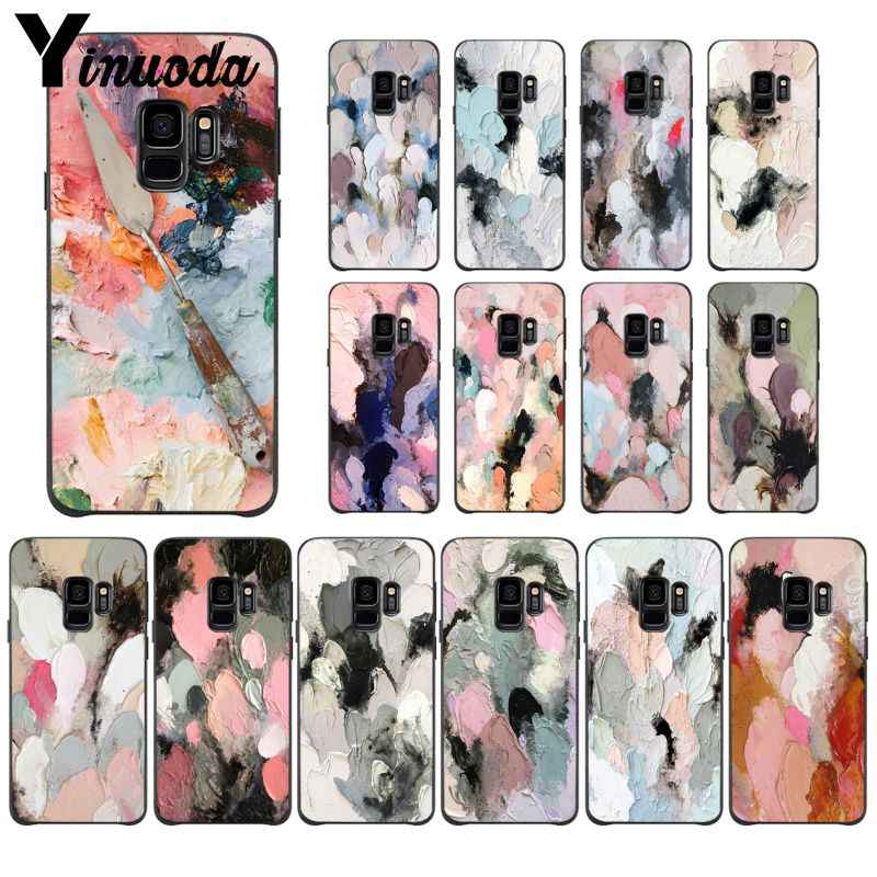 Yinuoda Colorful Vintage Painting Frosted Matte Luminous Emboss PhoneCase for Samsung Galaxy S8 S7 edge S6 edge plus S10 S9 Plus