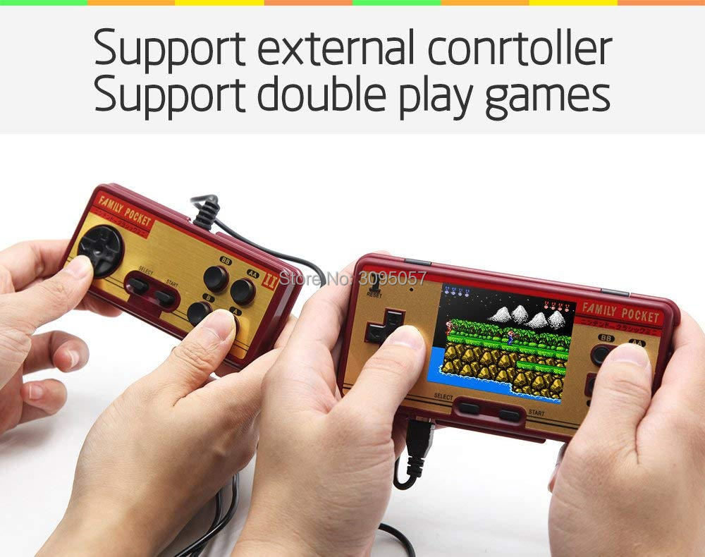 Image 3 - WOLSEN 3.0 inch Retro Portable Family Pocket Game Player RS 20A 8 Bit Mini Console Video game consoleBuilt in 638 Game Best Gift-in Handheld Game Players from Consumer Electronics