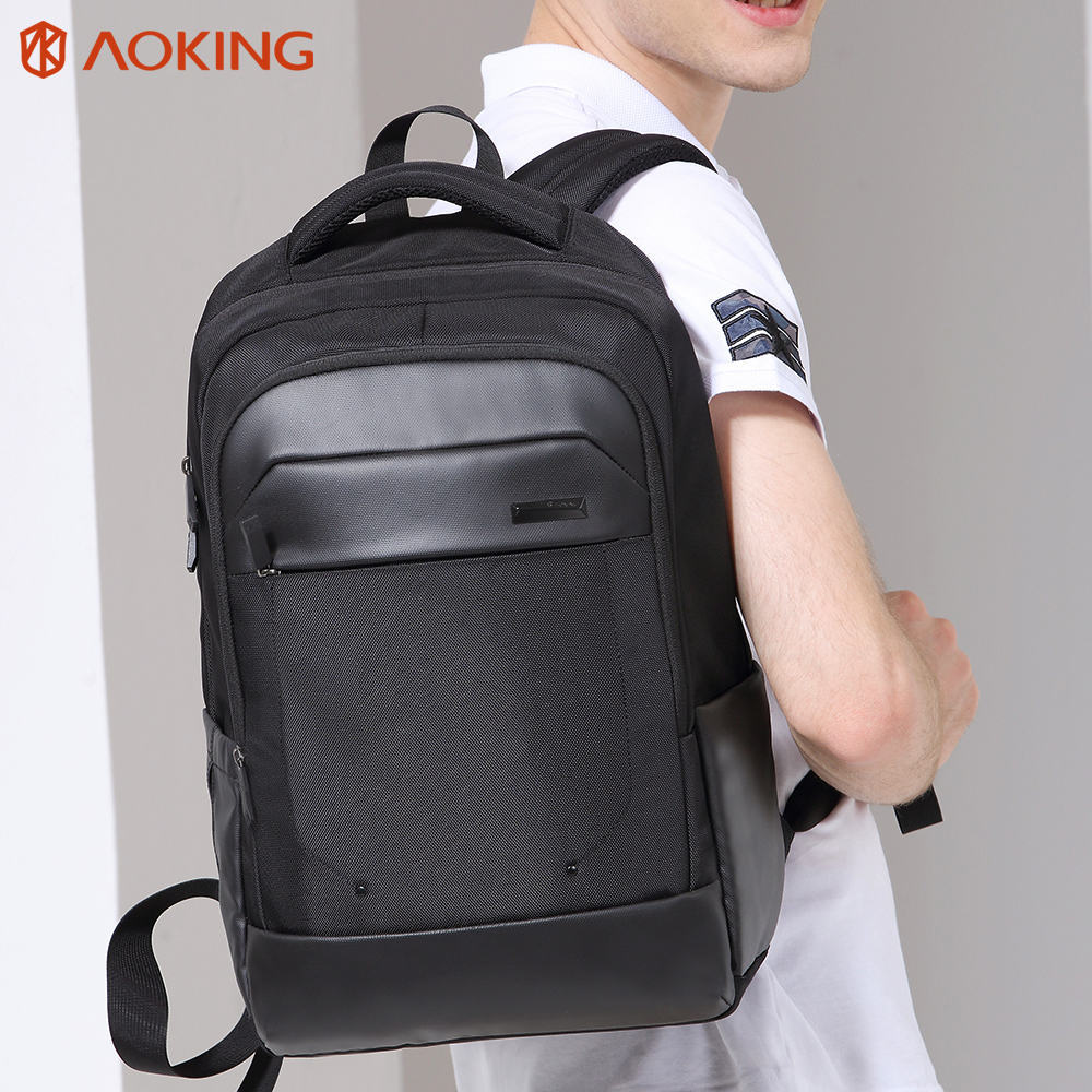 Aoking 2017 16 Inch Men Laptop Backpack Large Capacity Nylon Unisex College Student Casual School Backpack Anti-thief Mochila