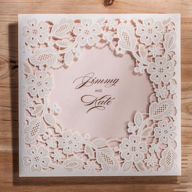 50 Teile Los Laser Geschnitten Hochzeitseinladungskarte Runde