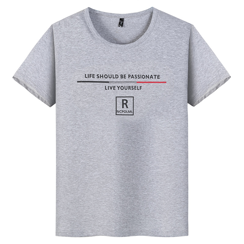 Plus Size 10XL 9XL 8XL Mens Loose T-Shirts short sleeve Casual Letter Printed Cotton T Shirts Short Sleeve Tees for Male