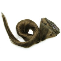 1518 20 22 24 Inch Clip In Full Head 100% Real Human Remy Hair Extensions