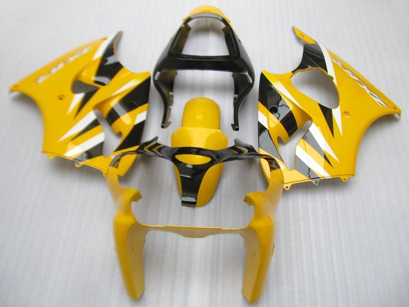 Uaktualnić swój wtrysku owiewki zestaw do Kawasaki Ninja ZX6R 2000 2001 2002 sportowy motocykl fairing zestawy ZX 6R 00 01 02 żółty