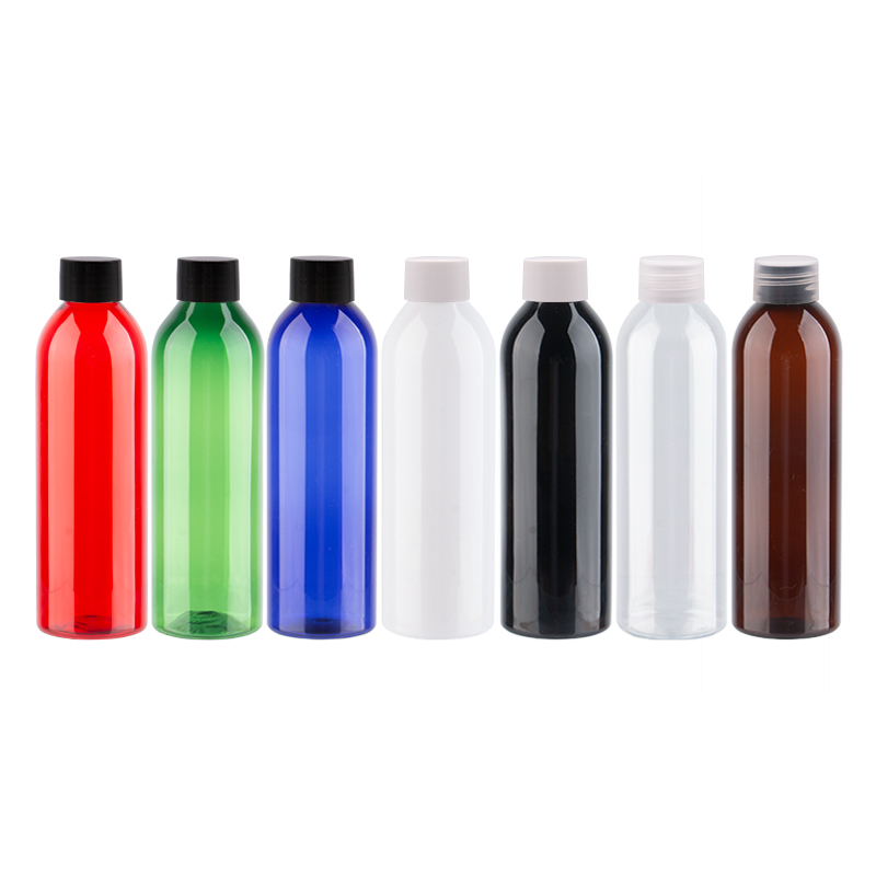 250ml X 25 Empty Transparent White Cosmetic PET Bottle 250cc Colored Plastic Bottle Container With Screw Top Cap DIY Shampoo