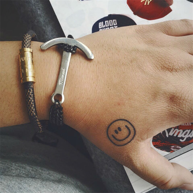 Titanium Steel Bracelets Men Vintage Retro Stainless Steel Bracelets Gun Black Silver Chain Hook Anchor Bangle Anchor Bracelets