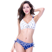 2017 Top Women Swimwear Swimsuit Bathing Suit Bikini Set Sexy Two Pieces Print Push Up Plus