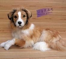 big simulation Shepherd dog toy polyethylene & furs lying dog doll gift about 54x24x28cm