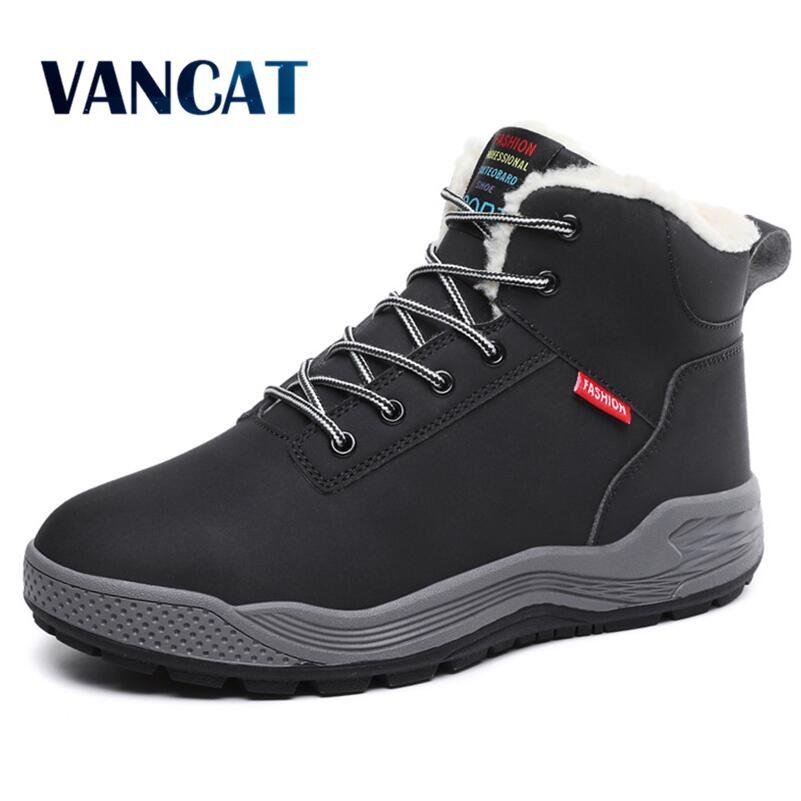 85e27555ed Detail Feedback Questions about Vancat Big Size 39 48 New Men Boots Men  Winter Snow Boots Warm Fur Plush Lace Up High Top Fashion Men Shoes Sneakers  Ankle ...