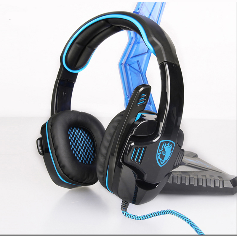 SADES Gaming Headset USB 7.1 Surround Sound Gamer Game Headphone 7.1 Earphone PC Headphone For Computer With Microphone sades wolfang virtual 7 1 surround sound headphones rotatable microphone headband headphone headset for video game