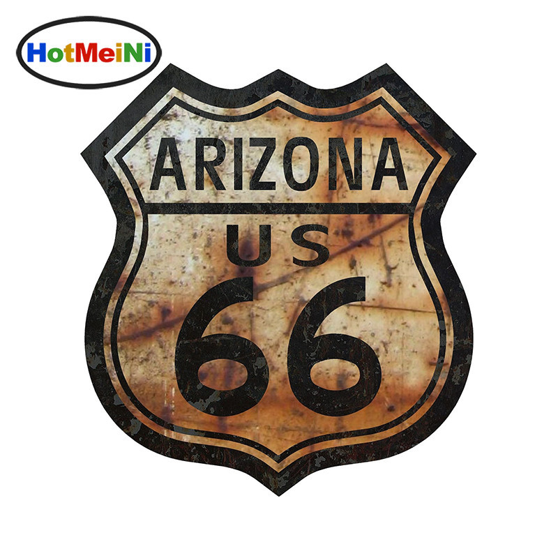 Hotmeini 13 см x 12 см стайлинга автомобилей автомобиля наклейку ROUTE 66 Аризона наклейка нам шоссе знак водонепроницаемый аксессуары бампер