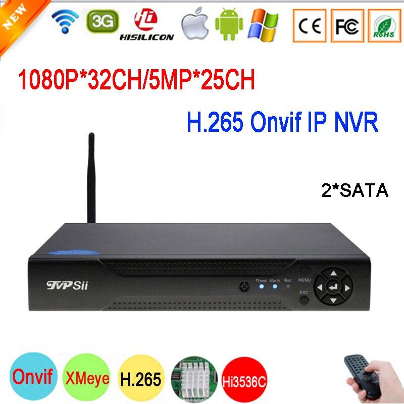 5mp 4mp 3mp 2mp 1.3mp1mp IP Camera Hi3536C XMeye 2 SATA 5MP 25CH1080P 32CH WIFI H.265 Onvif CCTV NVR main picture