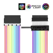 LIANLI Strimer 24 8 نيون خط 24 دبوس الطاقة RGB PSU كابل/VGA 8P + 8P كابل تمديدي للمحول 5 فولت 3Pin D RGB رأس هالة مزامنة