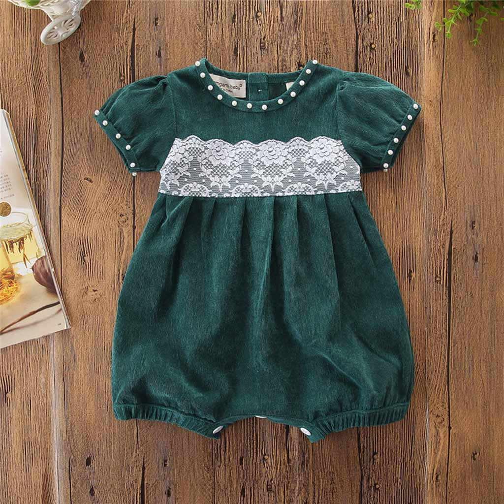 Recién Nacido verano 2019 ropa de bebé niña niño moda sólido encaje bebé mamelucos bebé Onesie bebé invierno ropa Casual niños mono