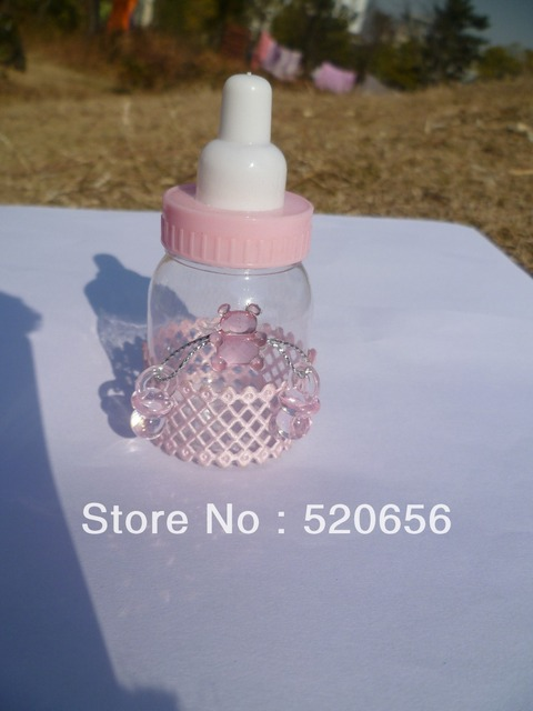 Baby Bottles Baby Shower Favors With Pacifiers And Bear Charm Baptism Favor  Bottle Presents Keepsake 600pc