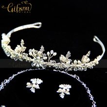 Free Shipping Eternally Timeless Necklace Tiara Set for Wedding Anniversary Women's Jewellery Set