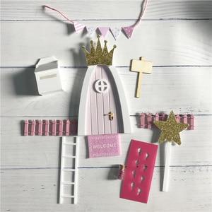 Image 5 - Hand Made Fairy Deur Grote Gift Voor Kid Miniatuur Magic Tand Fairy Deur Succulent Miniascape Accessoire Hout Hek 6 Kleuren