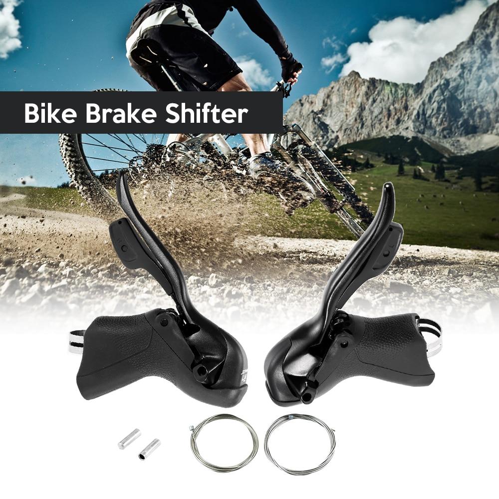 Vélo manette de vitesse levier avant arrière dérailleur Set 7 S/8 S/9 S/10 S vélo de route levier de frein supplémentaire intérieur câble de changement de vitesse freins pour vélo
