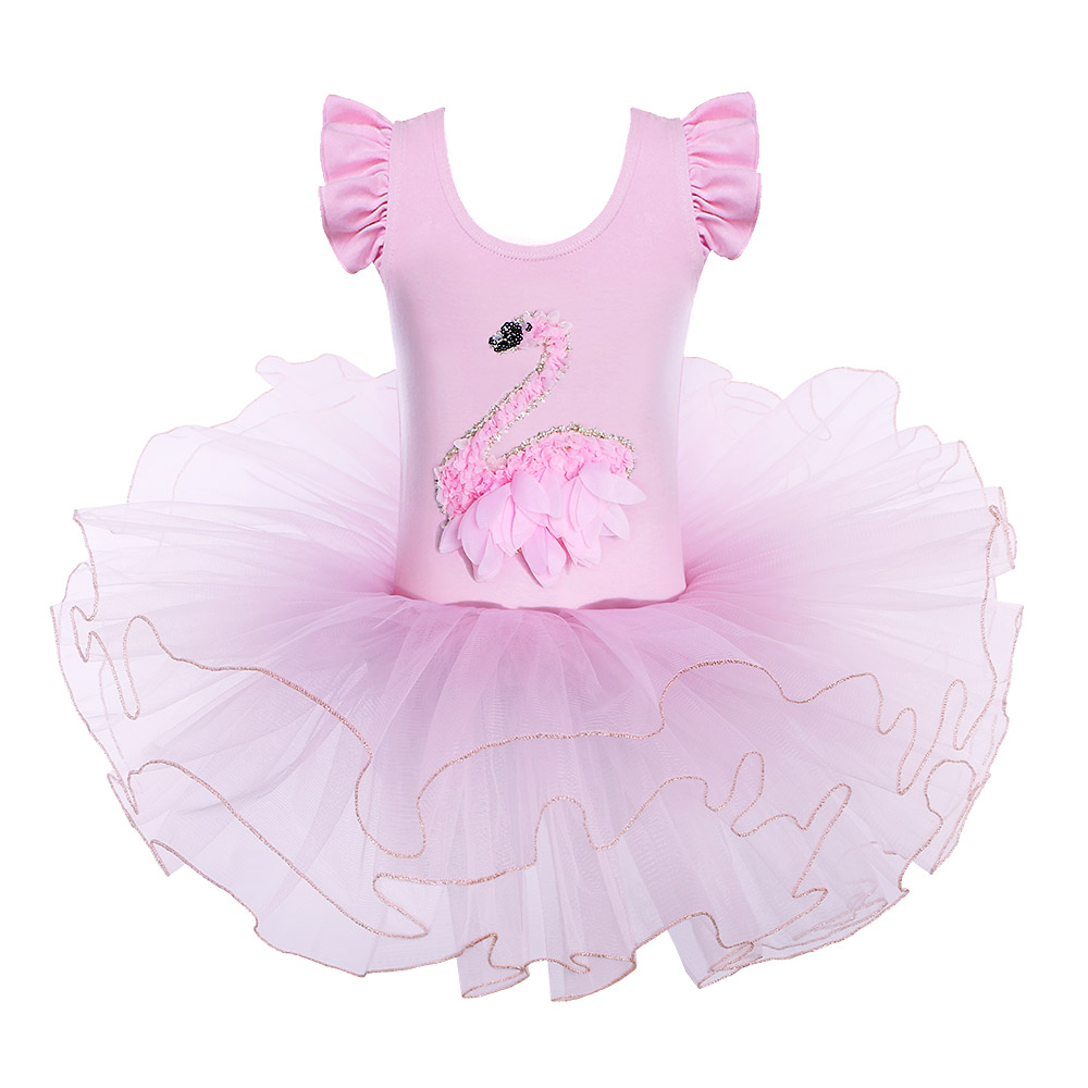 BAOHULU Gymnastic Kids Costumes Dress Leotards Dance-Wear Swan Ballet Birthday Tutu Party