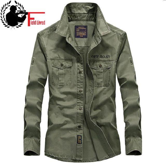 cheap for discount 46057 7b395 2019 neue Beiläufige Mens Military Style Armee Taktische Shirts Langarm  Marke Kleidung Schlank Armee Kleid Hemd