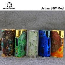 Original Arctic Dolphin Arthur 80W box mod CUV/Ti/Ni/SS/TCR vaping mode electronic cigarette mod 18650 battery vape mod
