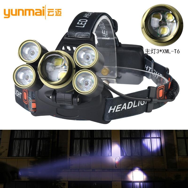 20000LM Super Bright Headlamp 7LED Light Headlights 3T6 Zoom Headlights High power Outdoors Lighting Headlights Charge in Headlamps from Lights Lighting